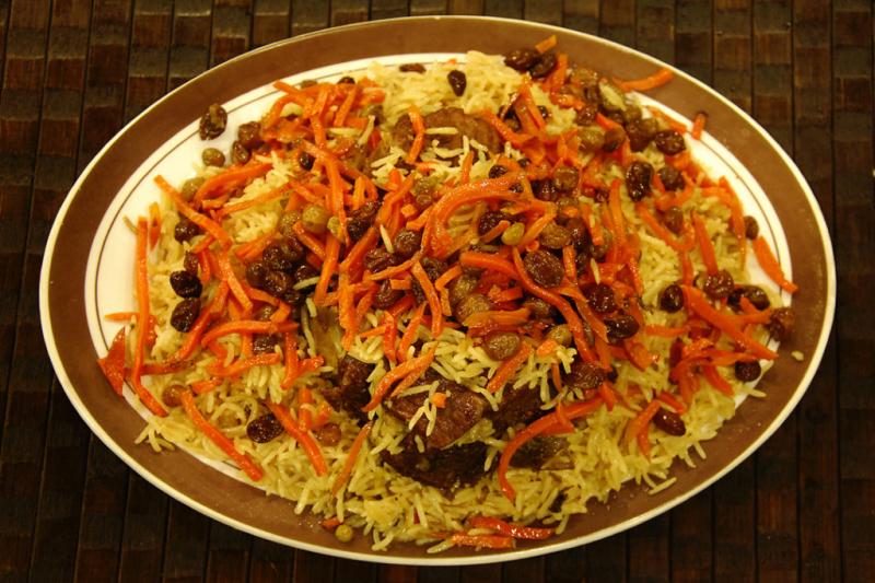 Một trong các món ăn ở Pakistan là Kabuli Pulao.