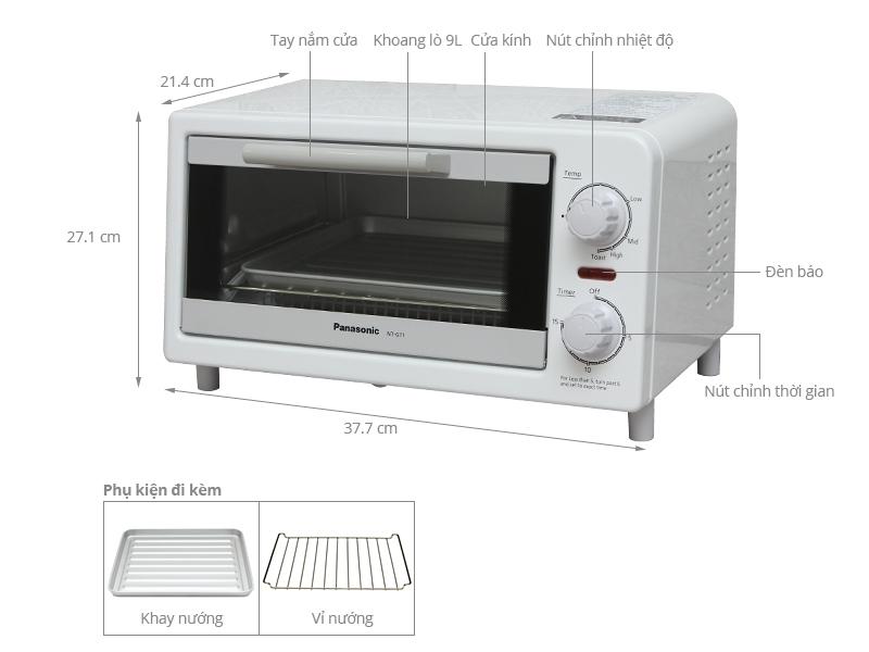 Lò nướng bánh mì Panasonic NT-GT1WRA 9 lít