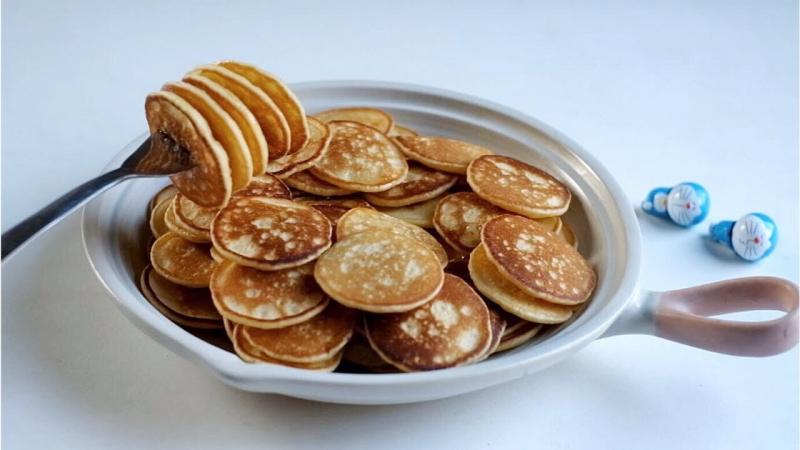 Pancake chuối mini