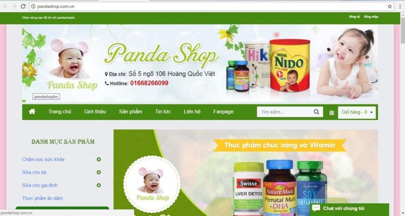 Trang web của Panda shop