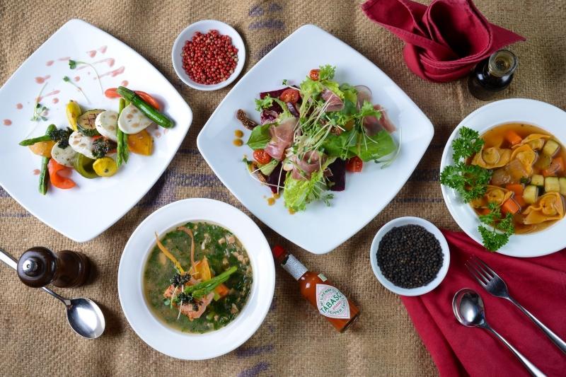 Đồ ăn tại Pane e Vino đều được chế biến rất ngon miệng và đẹp mắt.