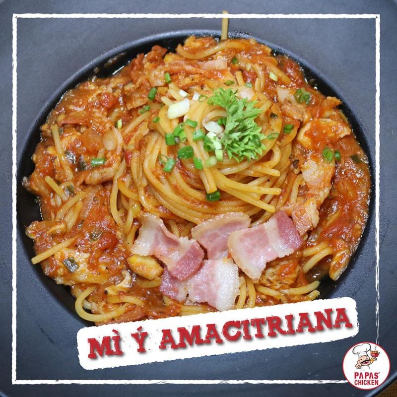 Mì ý Amacitriana là loại mì bán chạy của Papas Chicken
