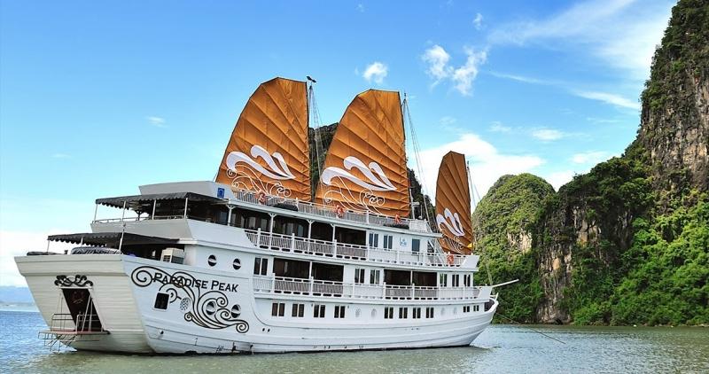 Hình ảnh du thuyền với cánh buồm dương cao