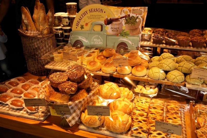 Đa dạng các loại bánh