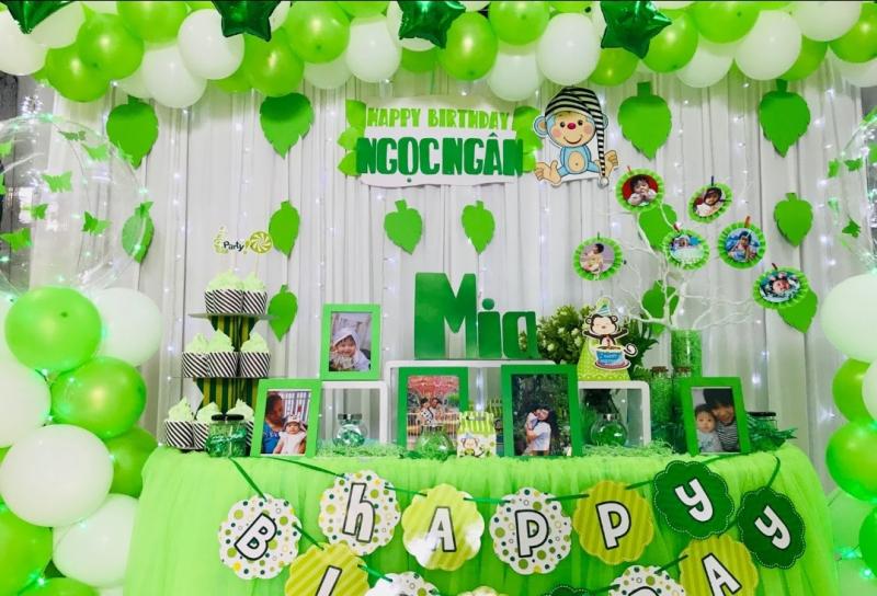 Một gói trang trí sinh nhật tại Party Balloons