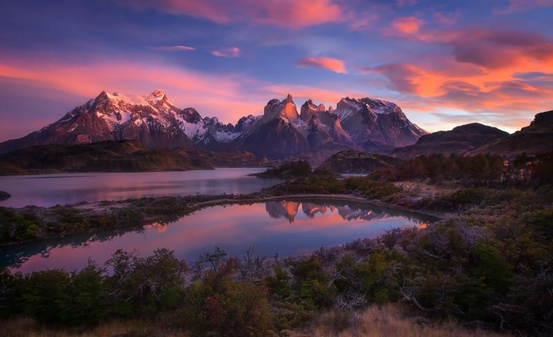 Gió mạnh ở Patagonia.