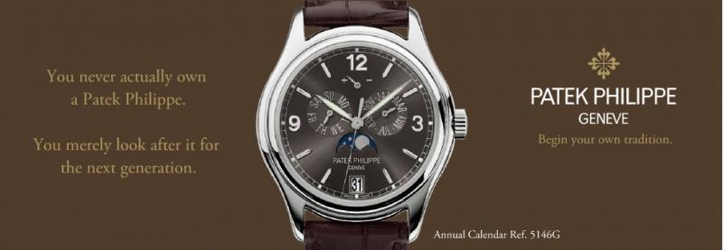 Một mẫu đồng hồ của Patek Philipe