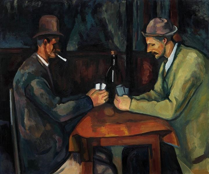 Bức tranh The card Players (Người chơi bạc)