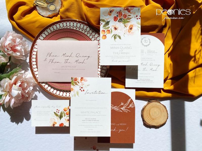Peonies Wedding - Thiệp cưới thiết kế