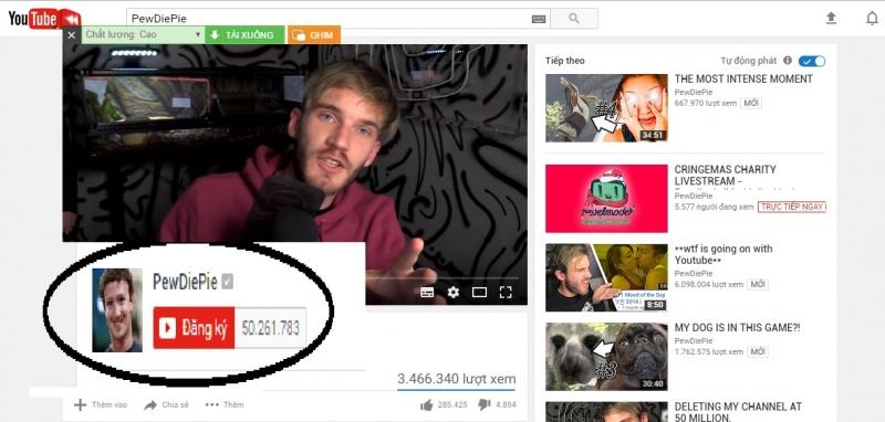 Lượng người theo dõi đã hơn 50 triệu người