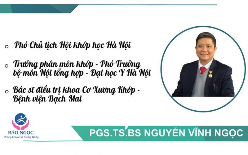 PGS. TS Nguyễn Vĩnh Ngọc - Phòng khám cơ xương khớp Bảo Ngọc