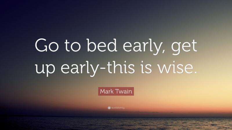 Ngủ thật sớm và thức dậy thật sớm cho tinh thần thoải mái nhất nhé