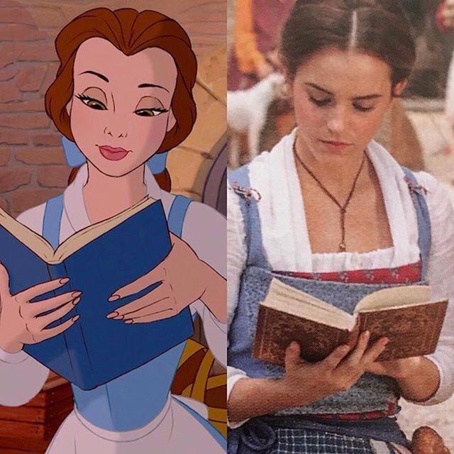 Belle rất thích đọc sách, tuy nhiên dân làng lại coi cô là một cô gái kỳ lạ trong làng
