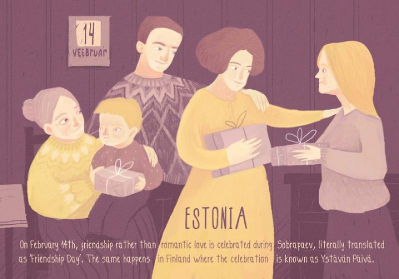 Tại Phần Lan và Estonia, ngày 14/2 được xem là