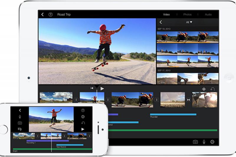 Phần mềm iMovie của Apple dành cho hệ điều hành iOS