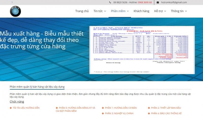 Phần mềm của Công ty CP Mekong Soft