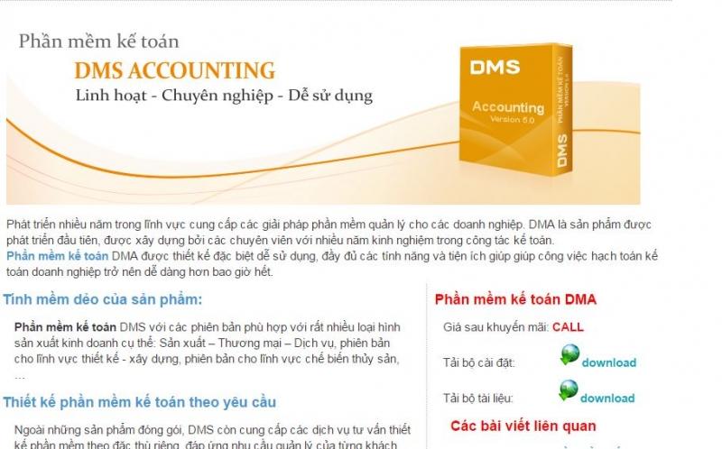 Phần mềm DMS của công ty Đất Mũi