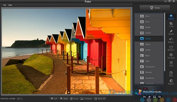 Màu sắc từ phần mềm Fotor thật đẹp