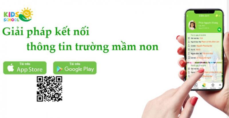 Phần mềm Giải pháp kết nối thông tin trường mầm non KidsSchool.vn