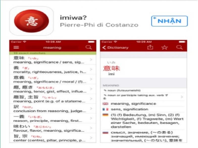 Ứng dụng Imiwa