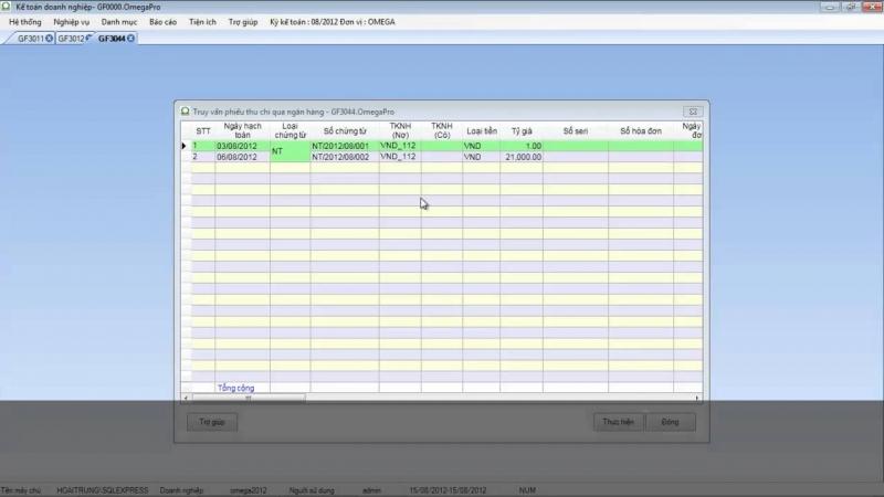 Phần mềm kế toán OMEGA