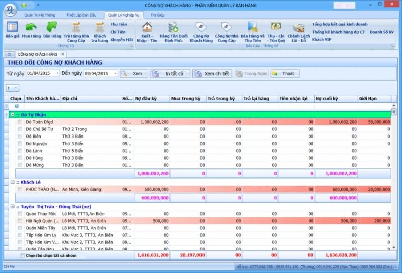 Phần mềm quản lý vật liệu xây dựng của công ty CP Công nghệ và Truyền thông Niềm Tin