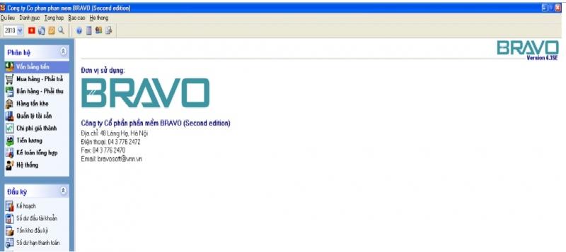 Phần mềm Quản trị – tài chính – kế toán Bravo
