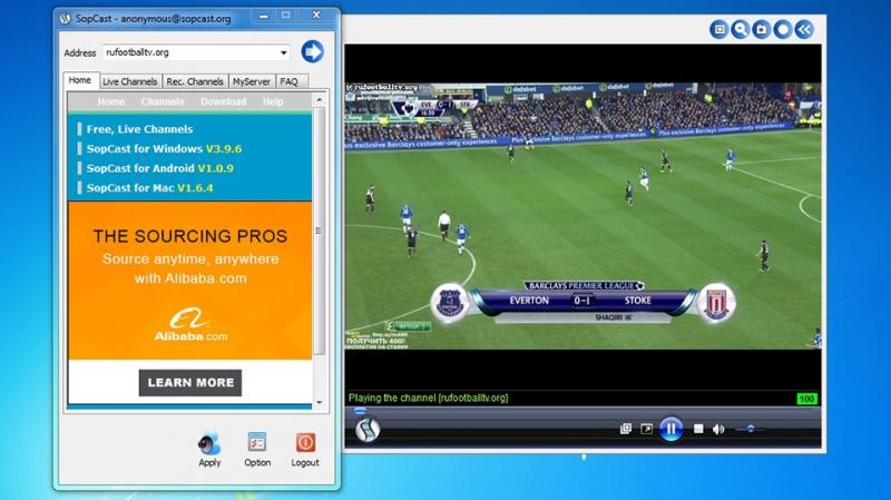 Xem bóng đá thỏa thích với Sopcast