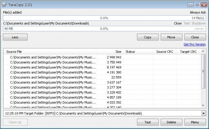 Tăng tốc độ copy với TeraCopy