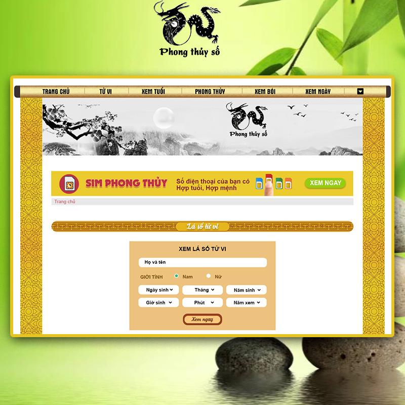 Phần mềm xem ý nghĩa số điện thoại tại phần mềm của phongthuyso.vn