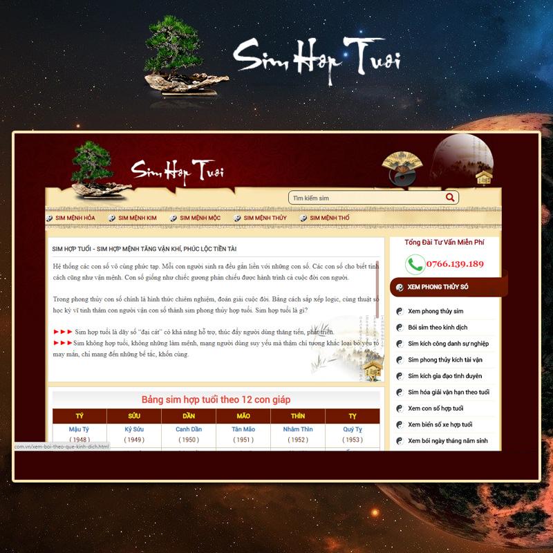 Phần mềm ý nghĩa số điện thoại phong thủy tại Simhoptuoi.com.vn