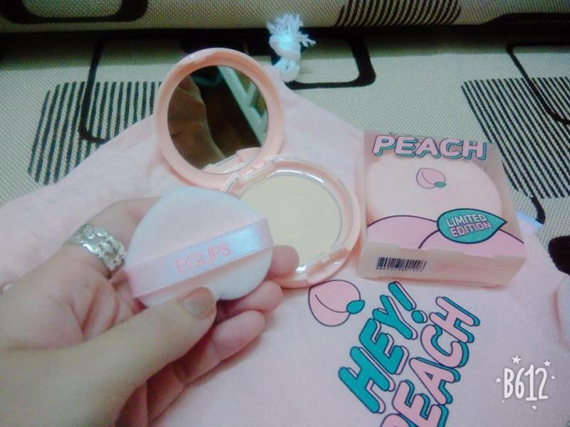 Phấn Phủ Eglips Hey Peach Blur Powder Pact Limited Edition