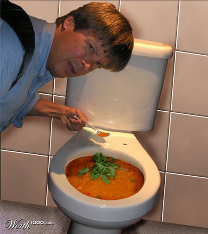 Hỗn hợp kinh dị súp bồn cầu