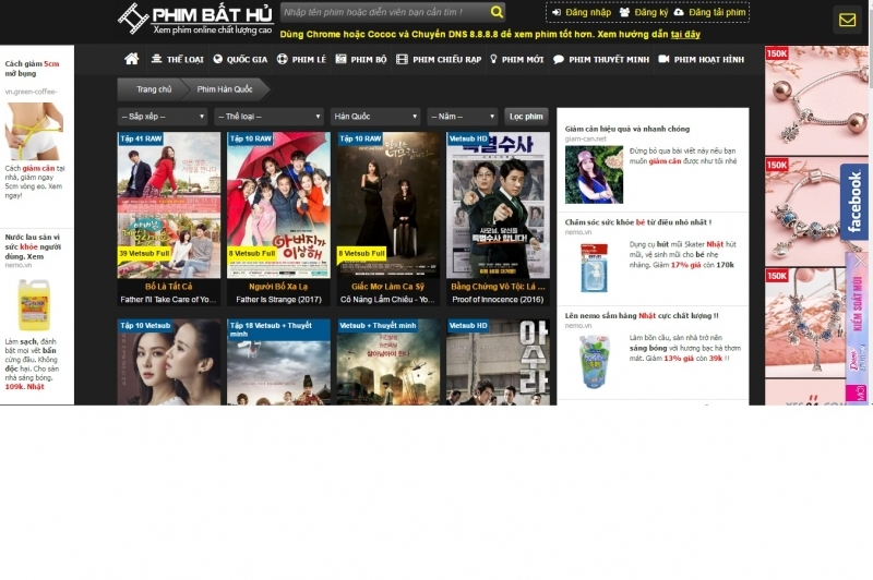 Website cập nhập nhiều thể loại phim đa dạng