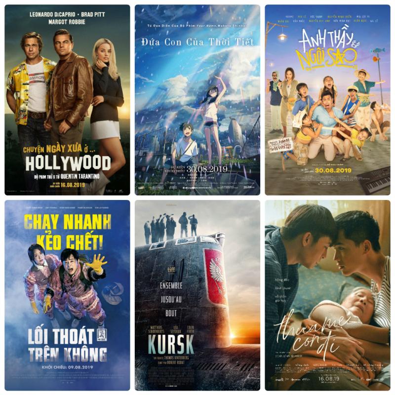 Top 16 phim chiếu rạp đáng mong đợi nhất tháng 8/2019 này