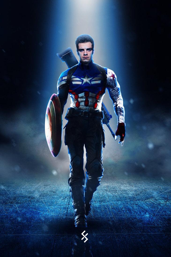 Bucky Barnes sẽ tiếp quản chiếc khiên và trở thành Captain America mới?