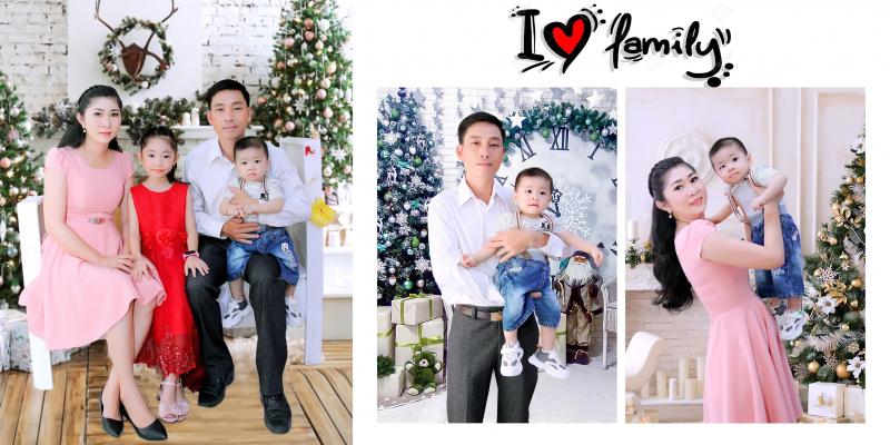 Ảnh gia đình chụp bởi Phim trường Duyên Dáng