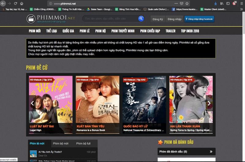 Website phimmoi.net