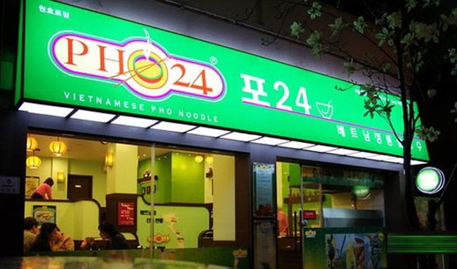 Cửa hàng của phở 24h ở Hàn Quốc
