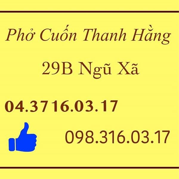 Pho Thanh Hang 29B Ngu Xa