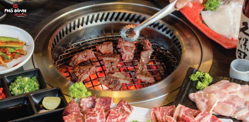 Phổ Đình là 1 trong những thương hiệu thịt nướng Nhật Bản khá chất lượng ở HCM.