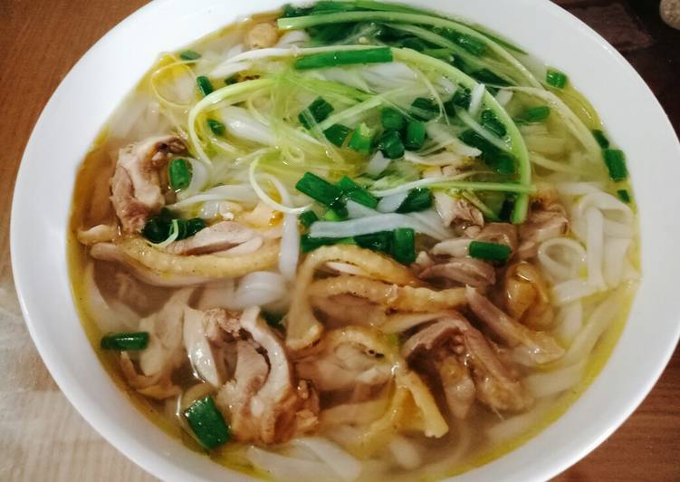 Old chicken noodle soup