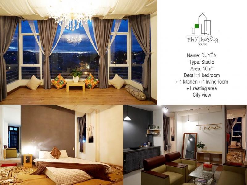 Phòng ở homestay sạch sẽ, thoáng mát, có cửa sổ ngắm chiều vàng khi hoàng hôn xuống