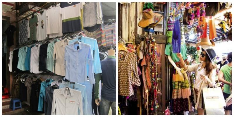 1 shop quần áo trong chợ