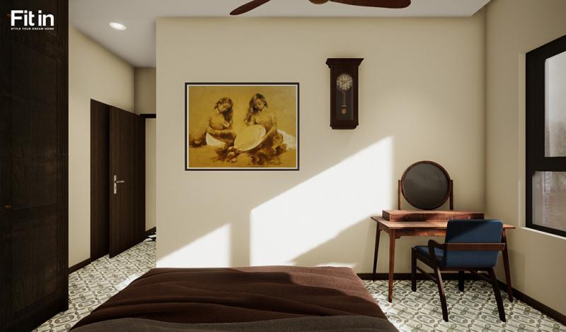 Phong cách thiết kế nội thất phòng ngủ Indochine