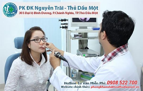 Phòng khám ngoài giờ tai mũi họng Thủ Dầu Một của Phòng khám đa khoa Nguyễn Trãi