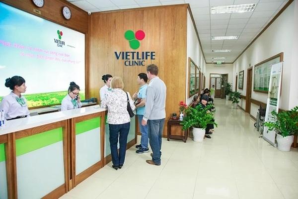 Hình ảnh quầy lễ tân Khoa Sản - Phụ khoa tại phòng khám Đa khoa Vietlife