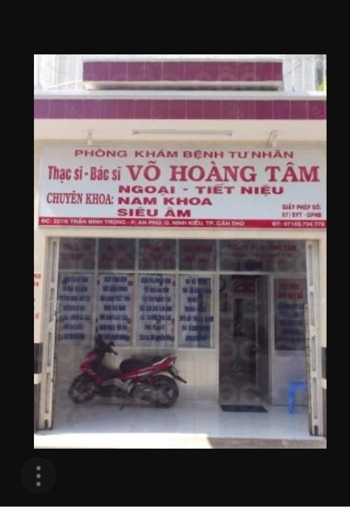 Phòng Khám Ngoại Niệu- THS.BS Võ Hoàng Tâm