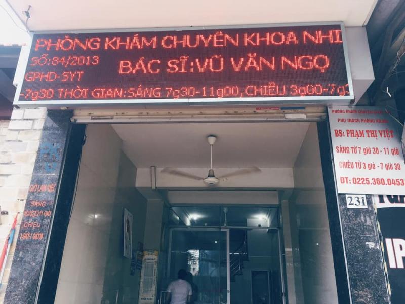 Phòng khám Nhi 231 Đà Nẵng - Bác sĩ Ngọ