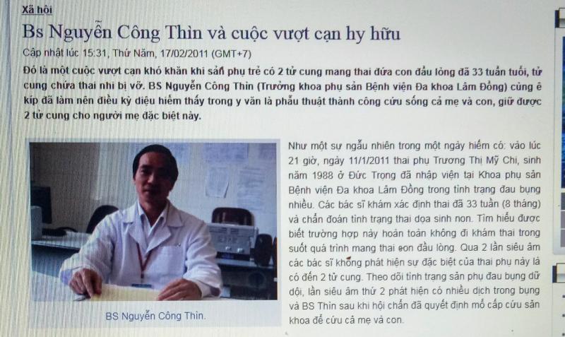Bác sĩ Nguyễn Công Thìn